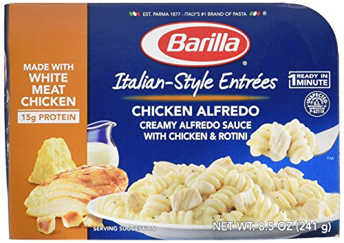 Barilla, Italian Style Entree, Chicken Alfredo, Microwave Dinner, 8.5oz Tray (Pack of - Pasta Easy