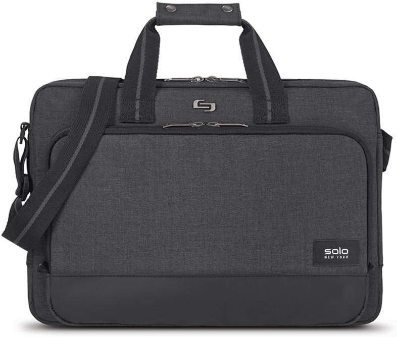 Solo Astor 15.6 Inch Laptop Slim Brief, Grey
