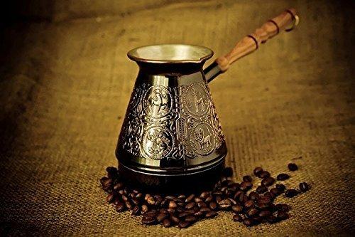 (Coffee Maker Turkish Arabic Greek Turka Copper Zodiac Pot 500ml/ 16 oz Original USA Seller)