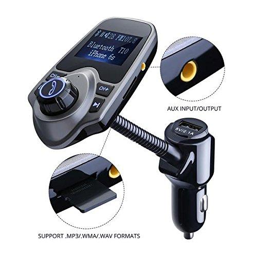 FM Transmitter, Primacc MP3 Player Bluetooth Radio Car Transmitter with Aux Port 4
