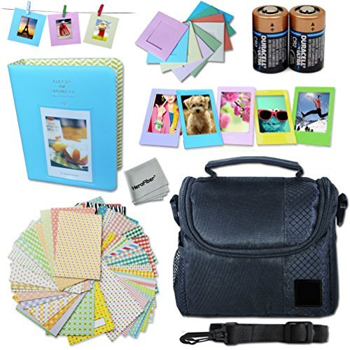 Xtech FujiFilm Instax Mini Accessories Kit f/ Fujifilm Instax Mini 70, Mini70, Mini 70 White, Mini 70 Blue, Mini 70 Yellow Includes: Assorted Frames + Fitted Case + Album + 2 CR-2 Batteries + MORE by Xtech