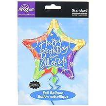 "Anagram International Birthday Blitz from All Foil Balloon, 19"", Multicolor"