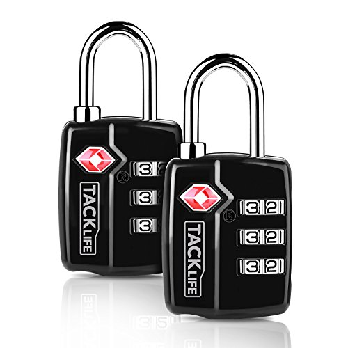 Luggage Locks, 2 Packs Travel Locks, HCL3A 2.4 in TSA Padlock, 3 Digit Padlock Combination Locks, for Gym, Locker, School, Suitcase & Baggage