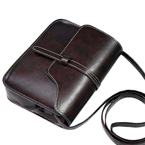 Purse Coffee Bagsm Messenger Bag Leather Body Cross Shoulder Newest Bag Vintage Pink Shoulder 2018 qOIRER