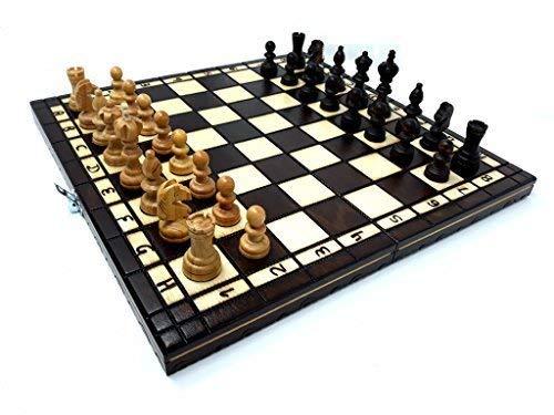 Prime Chess Fabriqués À La Main Cerise Jeu D'échecs En Bois 35 x 35 Centimètre