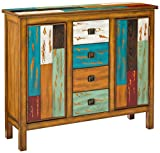 Distressed Wood Cabinet, Home Storage Shelves and Organizer Drawers