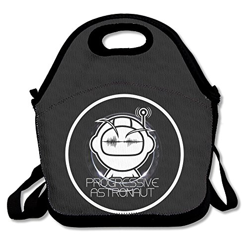 BUSHUO John Digweed And Nick Muir Track For Life Lunch Bag/Picnic Bag Black ()