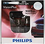 : Philips 9005 VisionPlus Replacement Bulb (High-Beam), (Pack of 2)