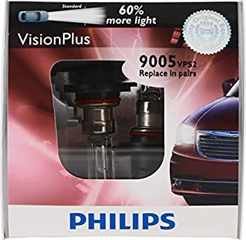 2 Pack 12972VPB2 Philips H7 VisionPlus Upgrade Headlight Bulb with up to 60/% More Vision