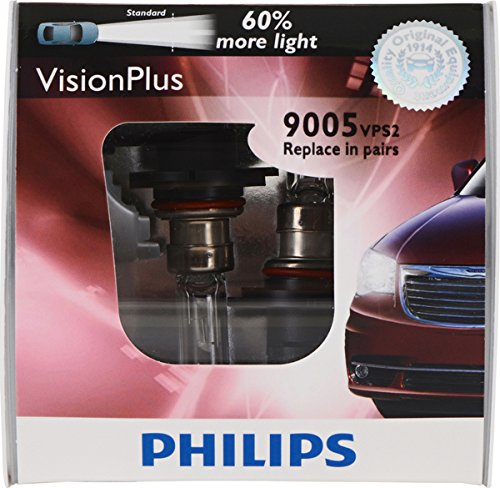 Philips 9005 VisionPlus Replacement Bulb (High-Beam), (Pack of ()