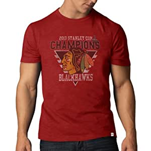 NHL Chicago Blackhawks 2013 Stanley Cup Champions T-Shirt, Red, Small
