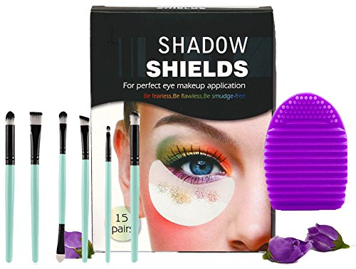 New Bundle! For Sensitive Skin - Shadow Shields, Professional Eye Makeup Brushes, and Brush Cleaner by BeVella