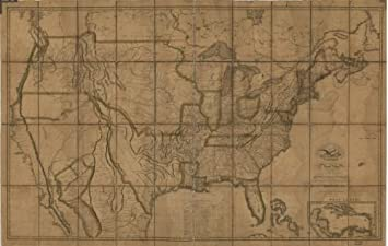 Amazon.com: 1819 Map of The United States of America : with ... on us map 1840, us map 1845, us map 1830, us map in spanish, us map with parallel lines, us map 1821, us map southern united states,