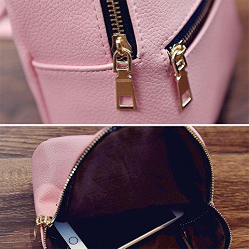 Amazon.com | Afco Fashion Faux Leather Backpack Girls Travel Handbag School Rucksack Bag - Black | Backpacks