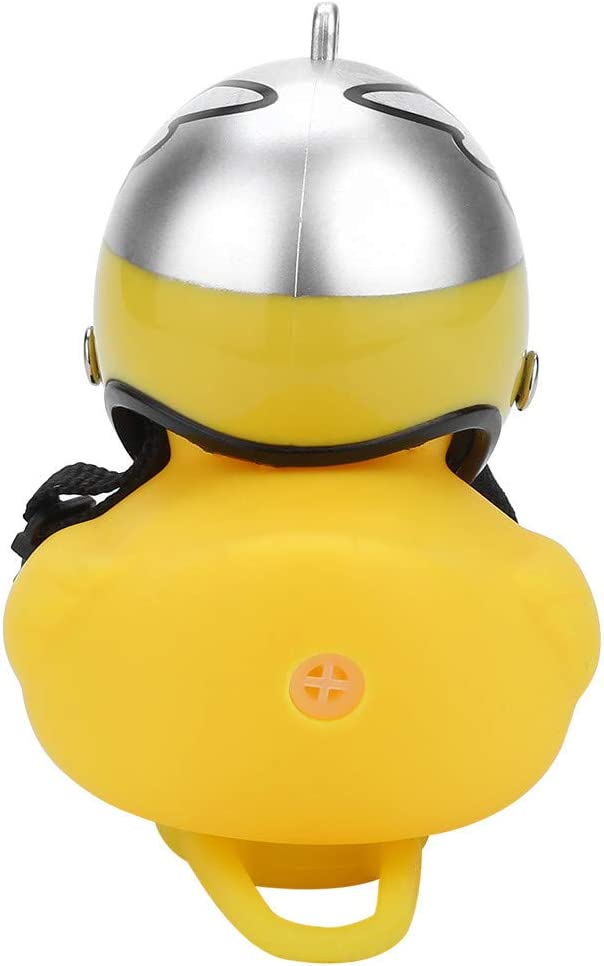 Zcuhen Cute Little Yellow Duck Ornament Handlebar Bell Lamp Lovely Cartoon Duck Head Light Shining Duck Bicycle Bells Handlebar Bicycle Accessories Safe Kids Bike Lights Bell