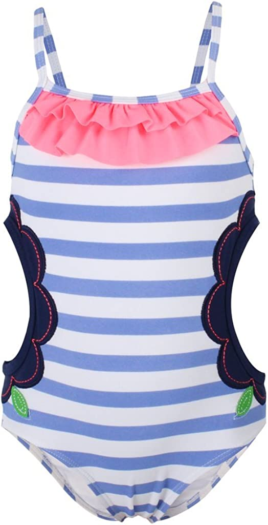 Dalary Flower Striped Summer Baby Girl Swimsuit One Piece
