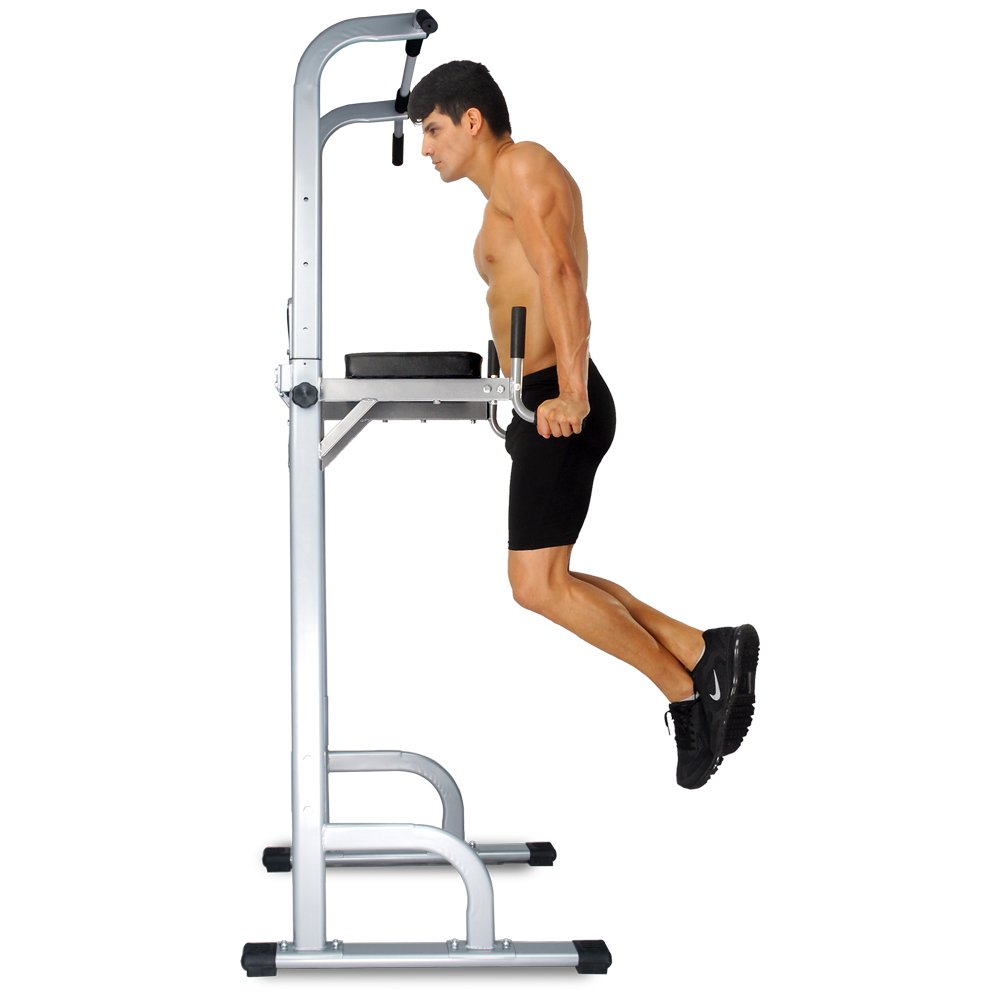 Ainfox Power Tower Capacity 550 Lbs Pull Up Bar Tower Dip Stands Fitness Gym Office