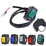 Frenshion 5 Pieces Motorcycle Switch ON OFF Handlebar Adjustable Mount Switch Green Blue Yellow Red Grey Button DC12V Fit Fog Light U5 U7 Led Lamp Spot