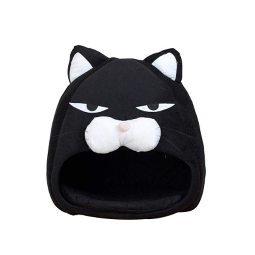 ... para Gato Cesta caseta para Gatos Fieltro - Abrigo para Gato Premium - Cojín Douillet y Juguete - para estantería Tipo IKEA o de Suelo - Saco de Dormir ...