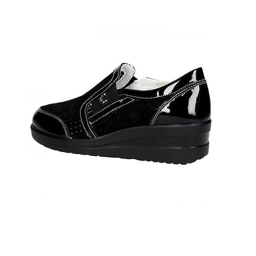Cinzia Soft Scarpe Donna Sneakers in camoscio Nero IV6640-AES-001   Amazon.co.uk  Shoes   Bags b668a872e8b
