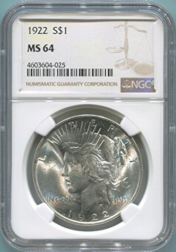 1922 P Morgan Dollars MS64 NGC