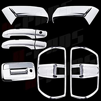 For Chevy SILVERADO 1500 2014 2015 Chrome Covers Set Gas Door Tail Lights Open