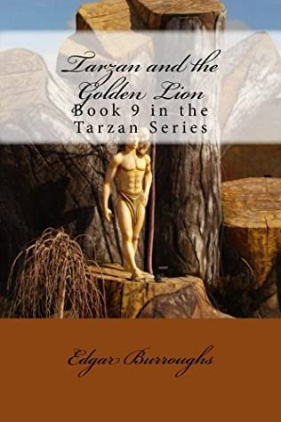 book cover of Tarzan and the Golden Lion