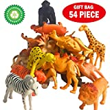 54 Pieces Animal Figure Set,Including Farms,Forests, Grasslands, Lakes Animals For Boys and Girl Kids Small Animals Toys