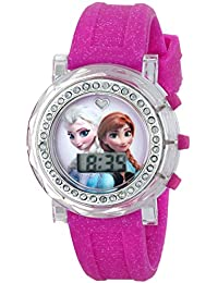 Kids' FZN3580 Frozen Anna and Elsa Flashing-Dial Watch...