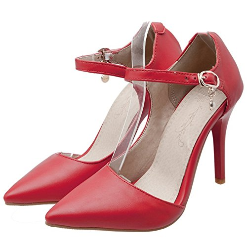 Coolcept Women Elegant D'Orsay Shoes Heels Red gwtEfg