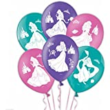 Amscan International 28 cm Disney Princess 4 Sides Latex Balloons( Pack of 6)