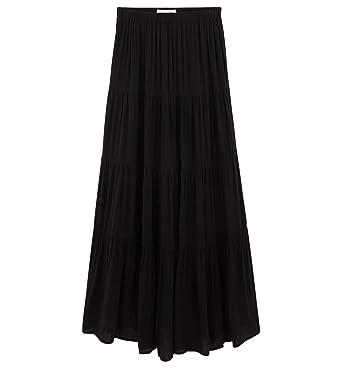 4e2a76fe5 Promod Longue Jupe crêpon Femme: Amazon.fr: Vêtements et accessoires
