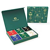 VAHDAM Luxury Tea Gift Box Set - Single Pyramid Tea Bags - Black Tea, Green Tea, Oolong Tea, Masala Chai Tea, Herbal Tea - Unique Gifts for Men, Women, Apt for Anniversary, Birthdays, Wedding & Office