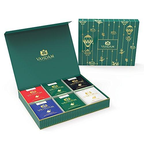 VAHDAM Luxury Tea Gift Box Set - Single Pyramid Tea Bags - B