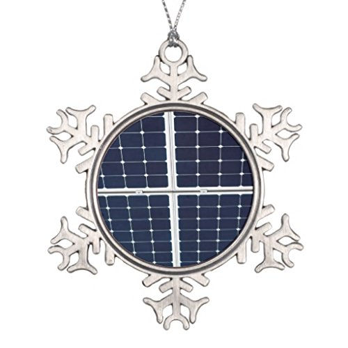 Image of a solar power panel funny Novelty Christmas Novelty Christmas Snowflake Ornaments Decorative Hanging Pendent Gifts Ornamentss by Ploekdu