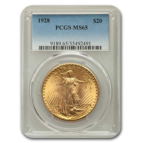 - 1928 $20 St. Gaudens Gold Double Eagle MS-65 PCGS G$20 MS-65 PCGS