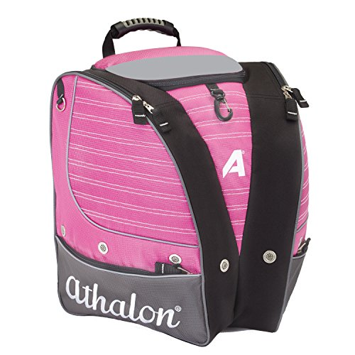 Athalon PERSONALIZEABLE ADULT BOOT BAG/BACKPACK – SKI - SNOWBOARD – HOLDS EVERYTHING – (BOOTS, HELMET, GOGGLES, GLOVES) (Snowboard Pink Bag)