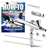 PointZero Dual-Action 2cc Gravity-feed Airbrush 3 Tip Set (0.2mm 0.3mm 0.5mm)