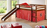 donco kids Polka Dot Fabric Tent for Low Loft 750/780, Red