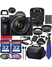 $2169 » Sony Alpha a7 III Mirrorless Digital Camera with 28-70mm Lens (ILCE7M3K/B) Bundle with Accessory Package Including 64GB Memory, Spider Vlog Tripod & More (21 Pieces)