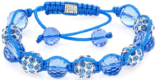 Royal Diamond Sky Blue Shamballa Fashion Designer Bracelet (Bracelets Gold Gabbana Dolce)