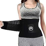 Moolida Waist Trainer Belt for Women Waist Trimmer Weight Loss Workout Fitness Back Support Belt