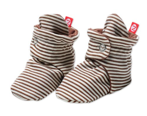 Zutano Baby Girls' Candy Stripe Bootie, Chocolate, 18 Months