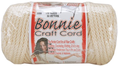 Pepperell 6mm Bonnie Macram Craft Cord, 100-Yard, Flesh/Cream