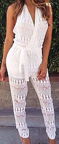 white-womens-lace-piece-pants-waist-deep-v-neck-wrapped-chest-jumpsuit-pocket-perspective
