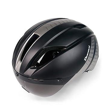 QXMEI Casco De Bicicleta con Gafas Magnéticas Extraíbles para La Seguridad Y La Transpirabilidad De Adultos