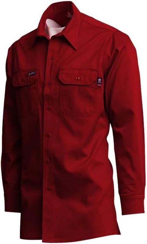 LAPCO IRE7-2XL-REG Camisa de trabajo resistente al fuego, 100% algod¨®n, roja, 2X-Large, regular: Amazon.es: Bricolaje y herramientas