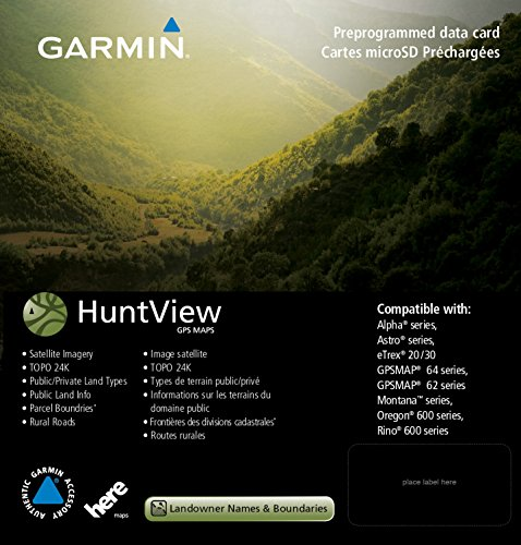 Garmin 010-12428-01 Huntview Map Card - New Mexico (Gps Map Mexico)