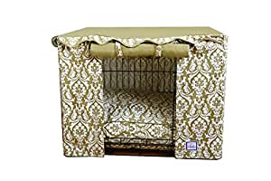 Amazon Com Damask Dog Crate Cover Size Small 21 Quot H X