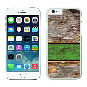 linJUN FENGApple Iphone 6 Case 4.7 Inches, Popular White Silicone Phone Case Cover for Iphone 6 Old Green Wood Texture